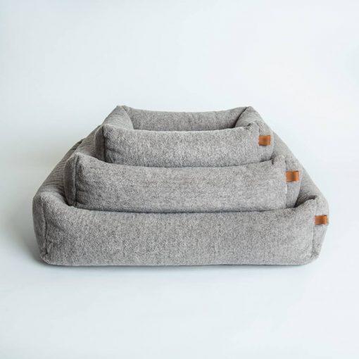 Miljøvennlig økologisk hundeseng grå