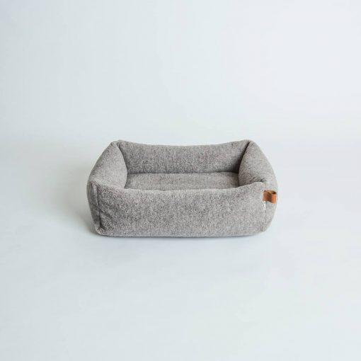Miljøvennlig økologisk hundeseng grå 2
