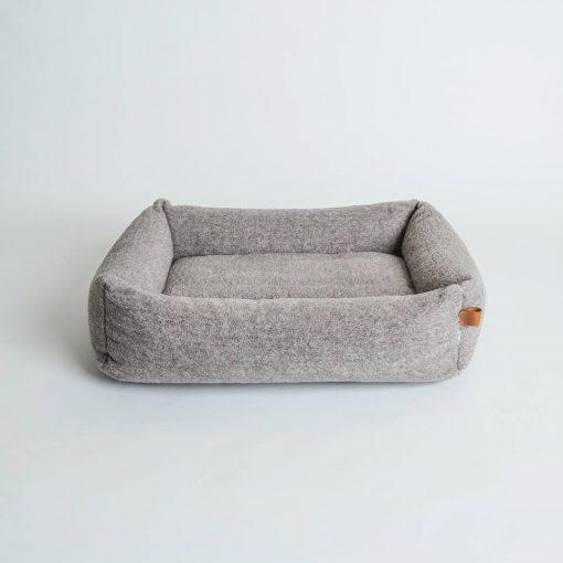 Miljøvennlig økologisk hundeseng grå 3