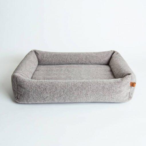 Miljøvennlig økologisk hundeseng grå 4