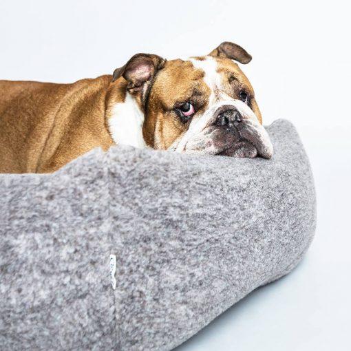 Miljøvennlig økologisk hundeseng grå 5
