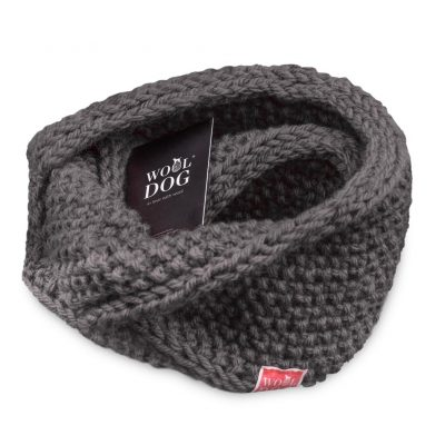 hals fra wool dog i fargen mørk grå