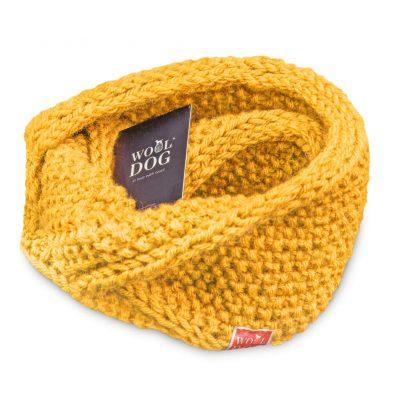 hals fra wool dog i fargen solsikke gul