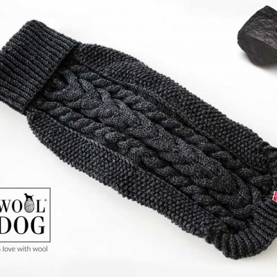 Wool dog dark graphite genser